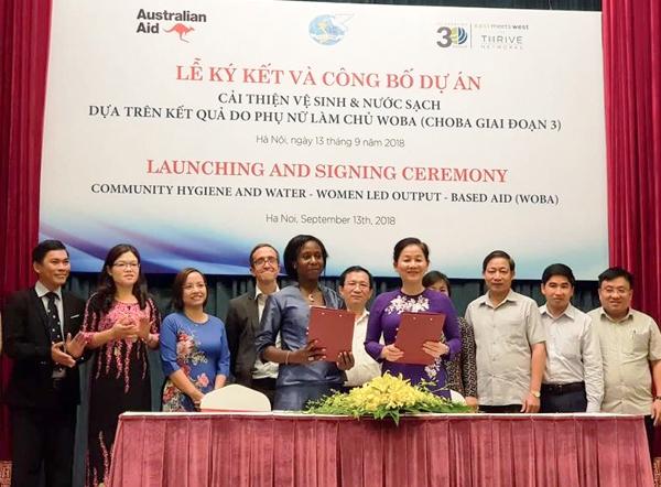 Lễ ký kết và công bố Dự án Cải thiện Vệ sinh và Nước sạch  dựa trên kết quả do phụ nữ làm chủ WOBA (CHOBA giai đoạn 3)